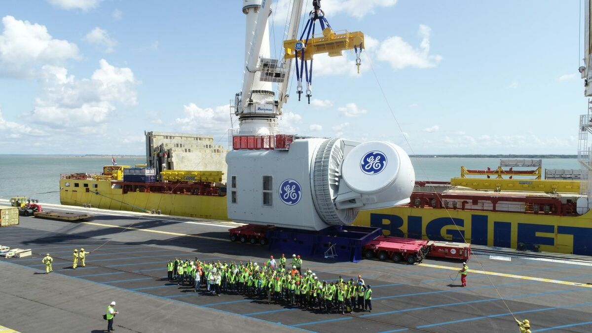 Haliade X offshorew wind turbine nacelle Main 1 EDM 15 08 019
