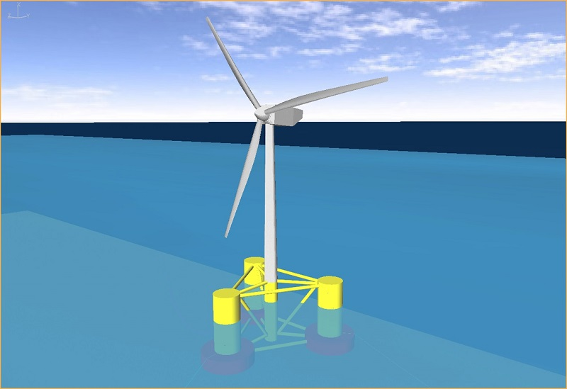 Wave experts test solutions to stabilise floating offshore wind turbines