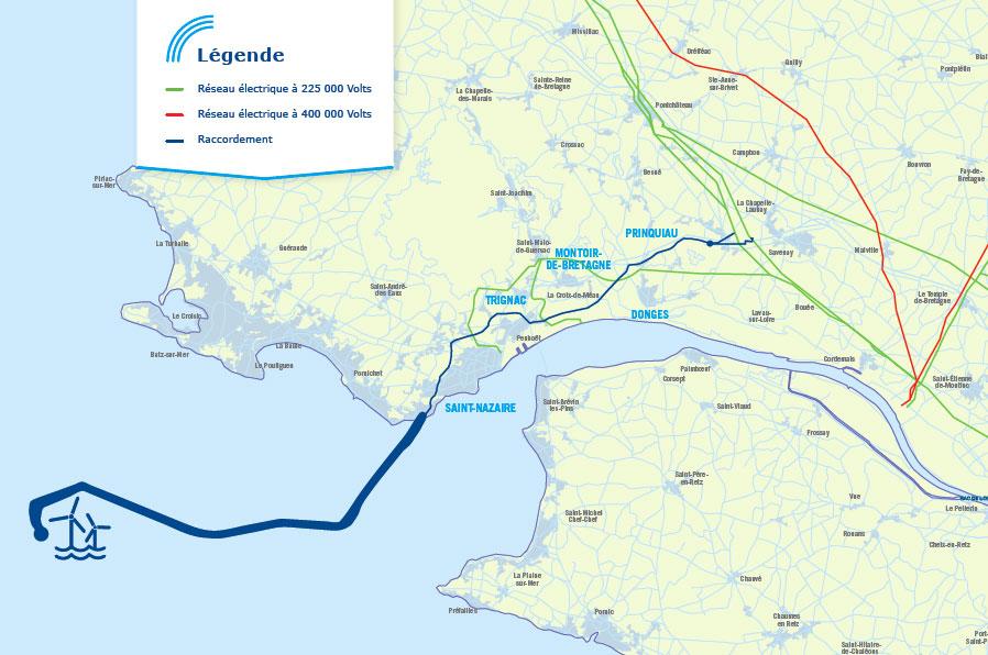 La CRE fixe le budget de RTE pour le raccordement du parc éolien en mer de Saint-Nazaire