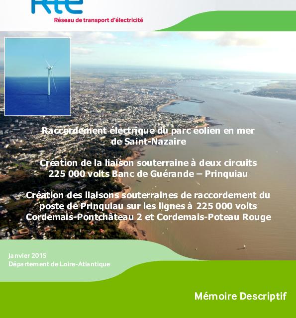 RTE – Dossier de raccordement du parc éolien en mer de Saint-Nazaire