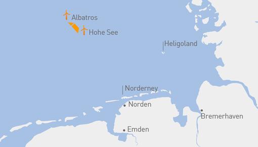 lageplan nordsee hohe see und albatros EDM 19 08 019