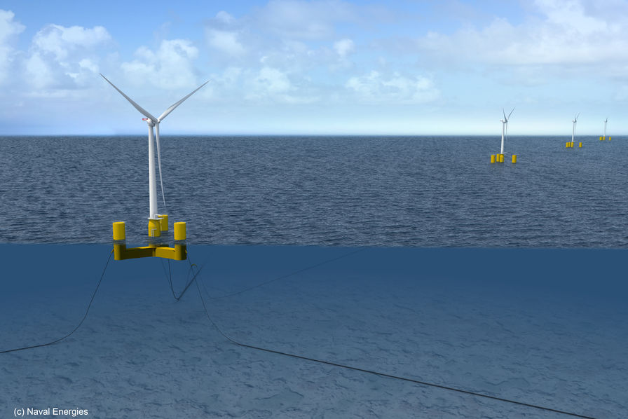 Naval Energies EDM 31 10 019 flotteur semi submersible de naval energies