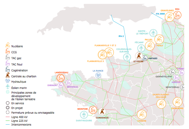 RTE communique sur la sécurité d'approvisionnement en électricité 2019-2025