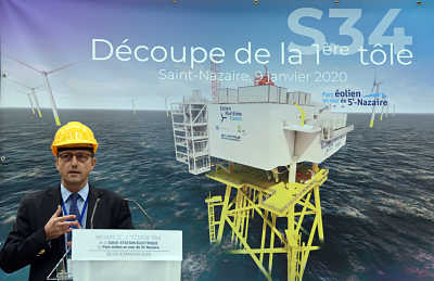 The construction of the key components of the Saint – Nazaire windfarm has started !