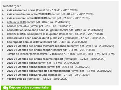 20 01 020 consultation Bas Carbone result