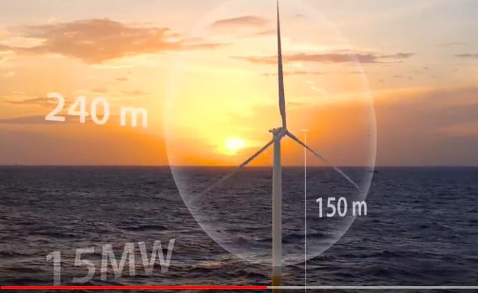 Eolien en mer : une nouvelle référence mondiale avec l'IEA 15 MW