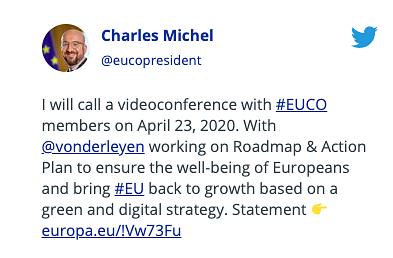 Covid-19 : Les ministres des Finances européens se mettent s'accorder sur un plan d'aide probable de €540 milliards – Partie 24