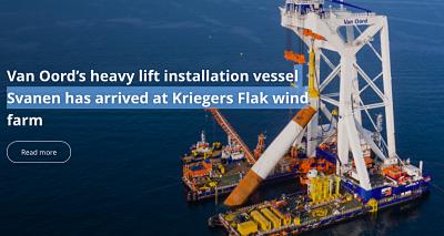 La protection des fonds a débuté pour installer les fondations de Kriegers Flak qui arrivent sur site