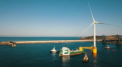 Bourbon Subsea Services participe à l'installation de la 3ème éolienne flottante du parc Windfloat Atlantic