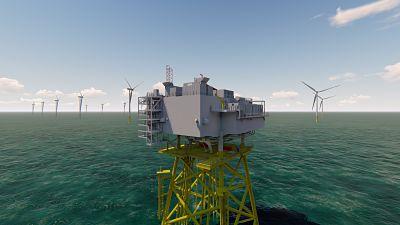 Chantiers de l'Atlantique, GE Grid Solutions et SDI construiront la sous-station électrique du parc éolien en mer de Fécamp