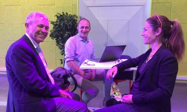 Interviews de Chantal Jouanno et de Laurent Pavard à propos du prochain débat public sur l'éolien en mer en Bretagne sud