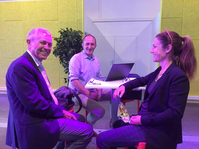Interviews de Chantal Jouanno et de Laurent Pavard à propos du prochain débat public sur l'éolien en mer en Bretagne sud sur la chaîne YouTube «Énergies de la mer».