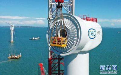 DEC, a développé une éolienne offshore de 10 MW