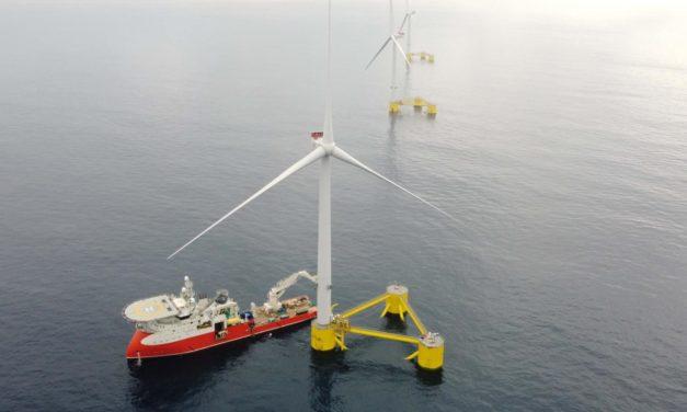 WindFloat Atlantic est entièrement connecté au réseau d'électricité portugais