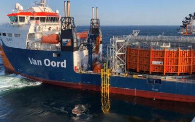 Van Oord débute sa nouvelle étape pour Borssele I & II, après l'installation des câbles Nexans
