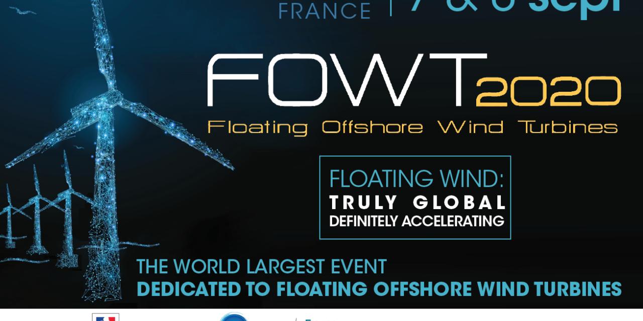 FOWT2020, la manifestation internationale sur l'éolien flottant est confirmée