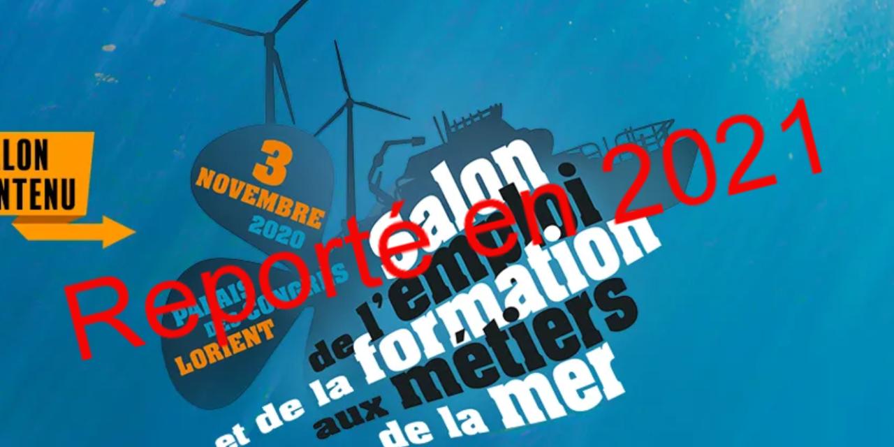 PRO&MER prévu le 3 novembre 2020 à Lorient est annulé