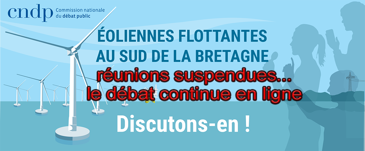 Commission particulière de débat public de Bretagne sud : «Éolienne flottante au sud de la Bretagne, discutons en !».