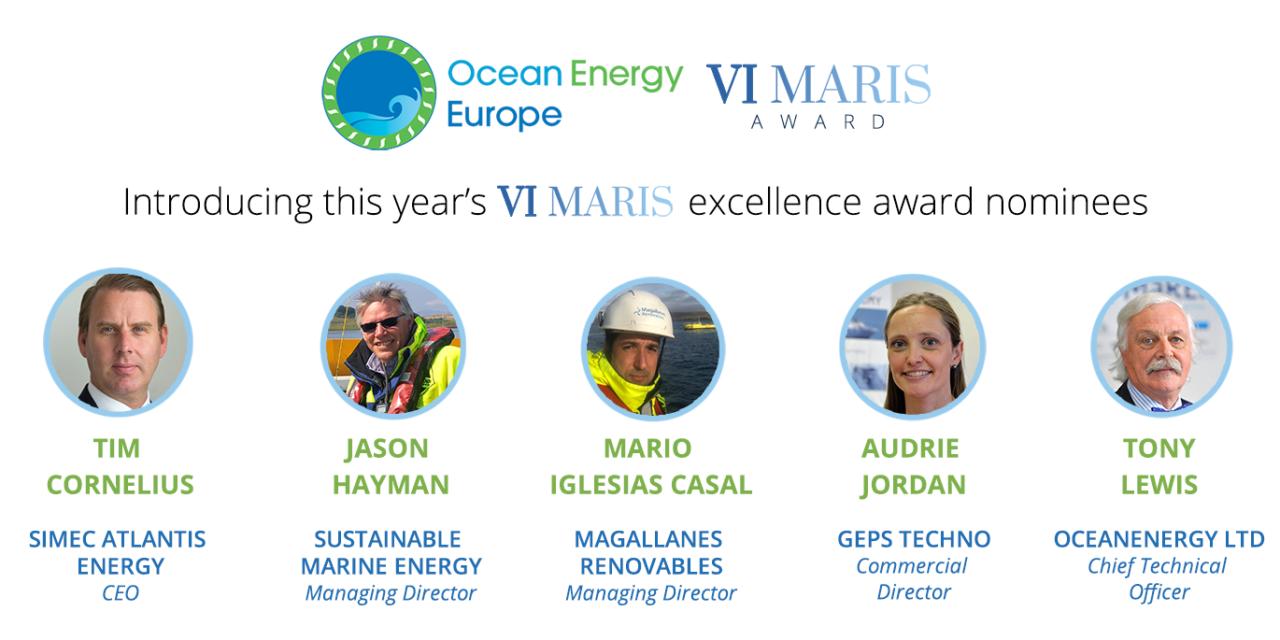 Ocean Energy Europe annonce les nominés 2020