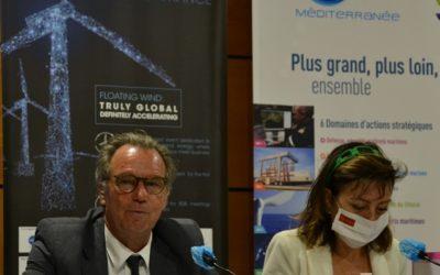 Les éoliennes flottantes dès 2022, selon Carole Delga présidente de la région Occitanie.