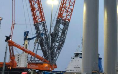 Windhoist retenu pour des travaux de pré-assemblage de Moray East et l'OTM de Siemens quitte le chantier d'Hoboken