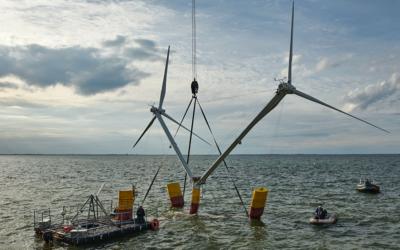 L'éolienne flottante Nezzy² commence ses tests en mer Baltique