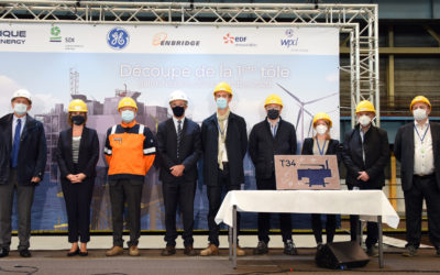 Atlantique Offshore Energy launch the construction of the Fécamp offshore wind farm electrical substation with its partners GE Grid Solutions and SDI