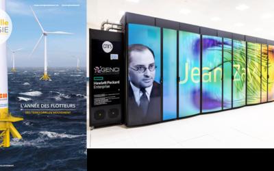 Le flotteur développé par l'IFPEN et SBM Offshore bénéficie de la puissance du supercalculateur du CNRS Jean Zay