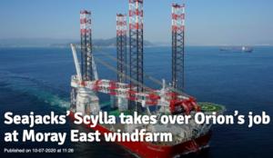 Deme - Moray East-Le navire Seajack remplace Orion