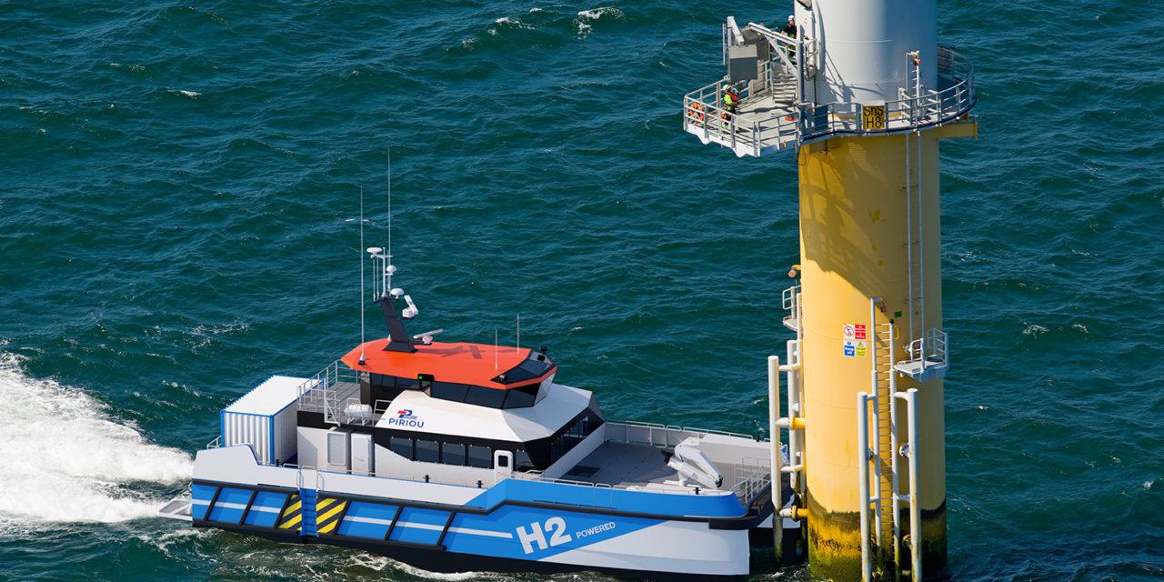 AMI Wpd Offshore France : 2ème lauréat Piriou avec un projet de Crew Transfer Vessels à hydrogène