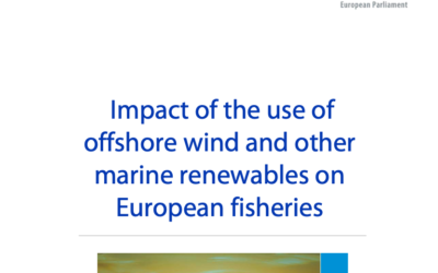 Étude : Impact of the use of offshore wind and other marine renewables on European fisheries