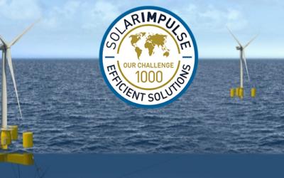 Le flotteur pour éoliennes en mer de Naval Energies labellisé par «Solar Impulse Efficient Solution»