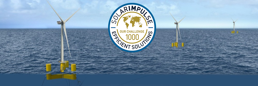 Le flotteur pour éoliennes en mer de Naval Energies labellisé par « Solar Impulse Efficient Solution »