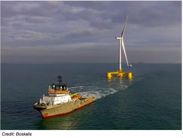 Boskalis a remorqué la première turbine de 9,5 MW de Kincardine