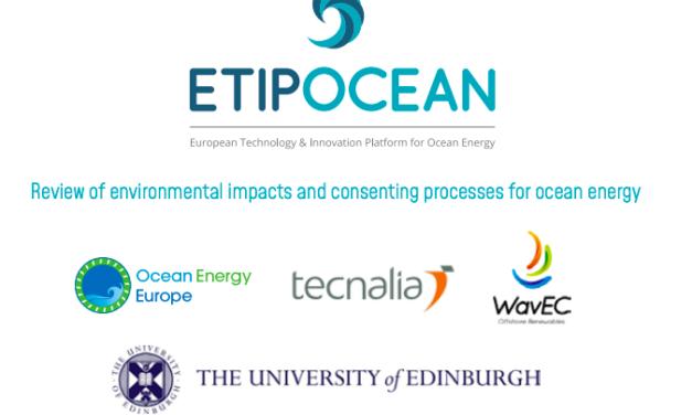 L'ETIPOCEAN publie un rapport sur des processus de consentement rationalisés et fondés sur la science pour l'énergie océanique