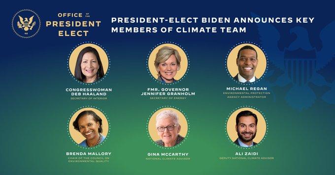 L'équipe Climat de Joe Biden