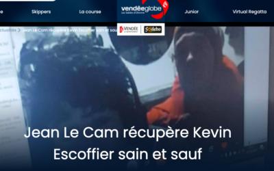 Vendée Globe : Jean Le Cam a récupéré à son bord Kevin Escoffier, skipper de PRB