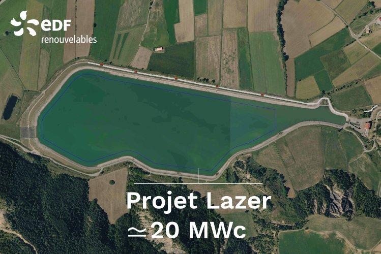EDF Renouvelables lance la construction de sa première centrale photovoltaïque flottante en France