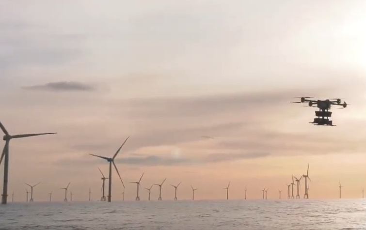 DEME Offshore et Sabca ont testé des drones dans le parc en mer de Rentel