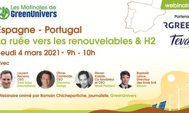 Webinaire le marché espagnol et portugais pour les ENR