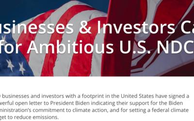 Climat : Mobilisation 300 entreprises américaines avant le sommet (virtuel) du Président Biden