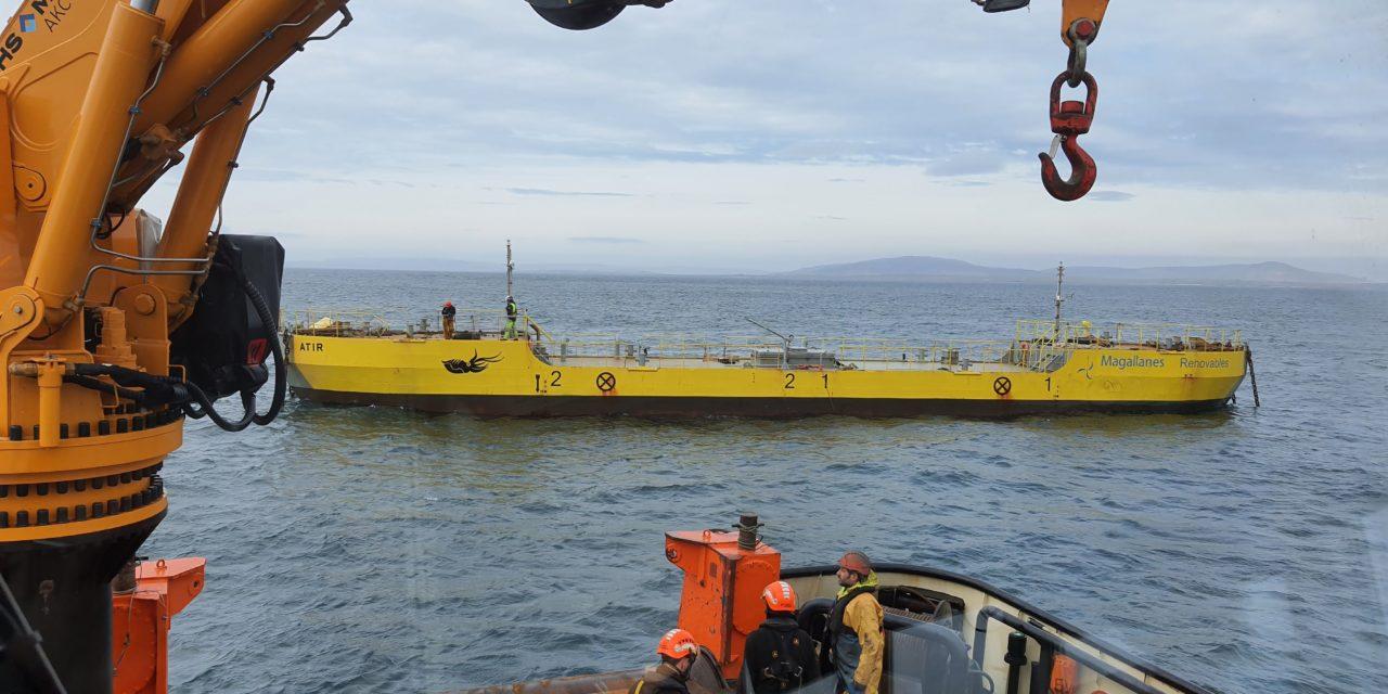 Magallanes a réinstallé l'hydrolienne ATIR à l'EMEC