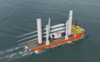 Huisman sort une plateforme de transfert de composants d'éoliennes pour les Etats-Unis