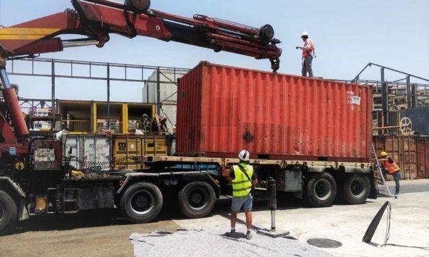 L'unité EWP – EDF One d'Eco Wave Power est arrivé sur le site du port de Jaffa