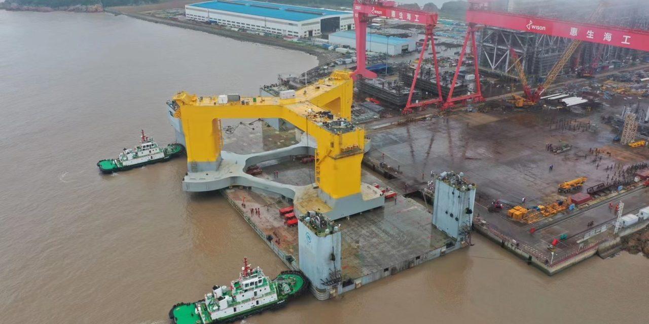 La 1ère éolienne flottante en Chine a été mise à l'eau
