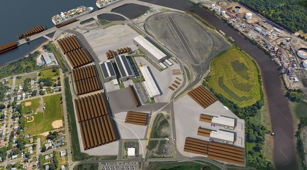 Ocean Wind et EEW ont débuté la construction de l'usine de monopieu dans le port de Paulsboro