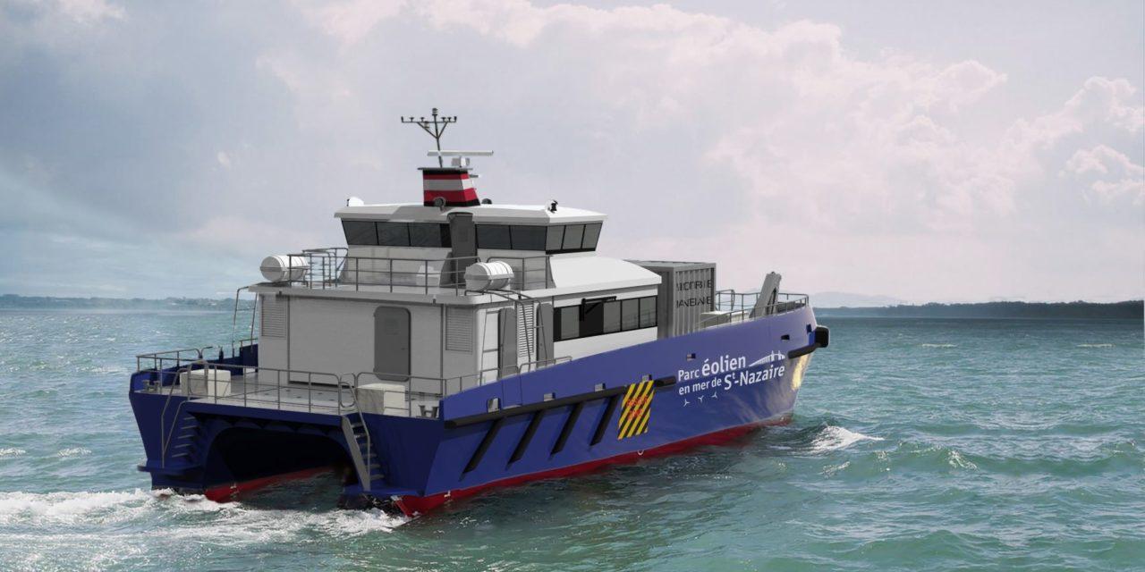 LD Armateurs et Tidal Transit fourniront un Crew Transfer Vessel (CTV) au Parc éolien en mer de Saint-Nazaire