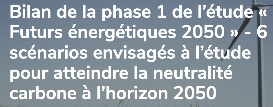 RTE finalise son rapport perspective 2050 pour le 25 octobre