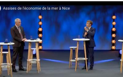 Emmanuel Macron aux Assises de la Mer : EMR, ayez une logique de filière !