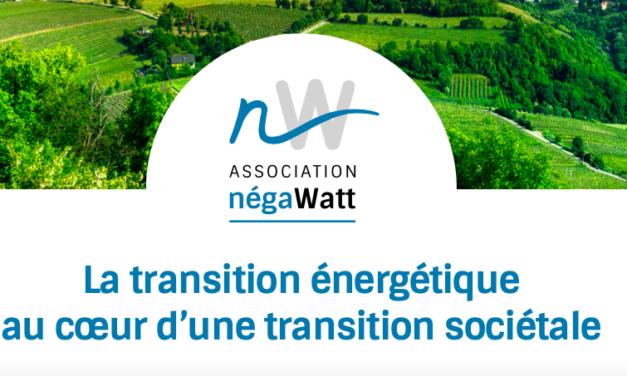 Le rapport «Prospective 2050» proposée par négaWatt, c'est mardi